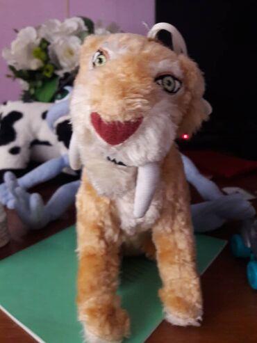 Саблизубый тигр. Мягкая игрушка 19 см. Находятся в мрн. Аламедин-1