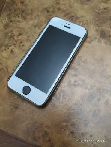 IPhone 5s 16gb ela vezyetdedir qabaq aq wuwedi arxada plyonka var в Mingəçevir