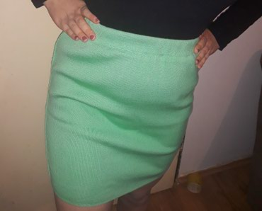 Zimske helanke pantalonemoderna zelena boja esirina - Srbija: Zelena, uska, dzemper suknja! Prelepa nezno zelena boja! Savrseno