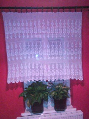 Kuća i bašta - Vrsac: Heklana zavesa na lale od konca,velicina 145x120cm