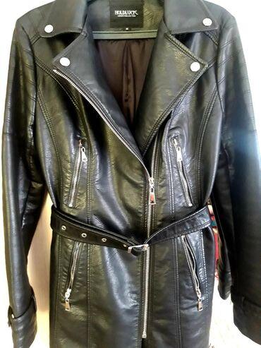 Женская одежда - Джал: Кожаный женский сюртук.Отличное качество.Размер М(46,48).Состояние