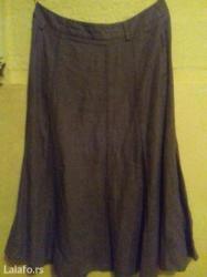 Maslinasto zelena suknja, lan 36 - Loznica
