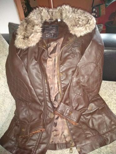 Dečija jakna od veštačke kože c&a veličina 134,braon - Vrsac
