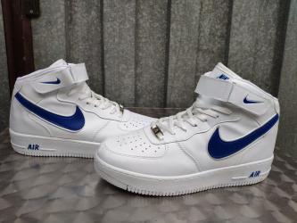 Prizu jos su - Srbija: Nike Air Force-Bele Sa Plavim Znakom-Prelepe-NOVO-Nepromocive  Proizve