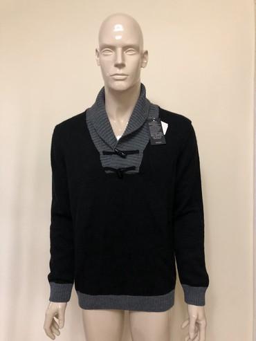 черное вышитое платье в Кыргызстан: Мужской свитер с высоким, отворачивающимся воротником,черного цвета, с