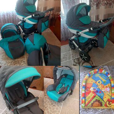1) Детская коляска 3 в 1 Verdi Pepe Eco Len - с автокреслом. Состояние