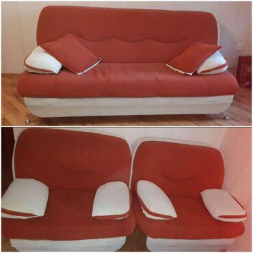 Divan 2 kreslo satılır 280azn yaxsı veziyetde divan acılır bazalidı
