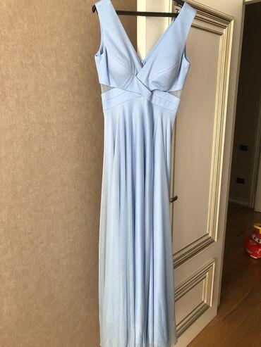 2828 elan: Blue evening dress,size M(38)