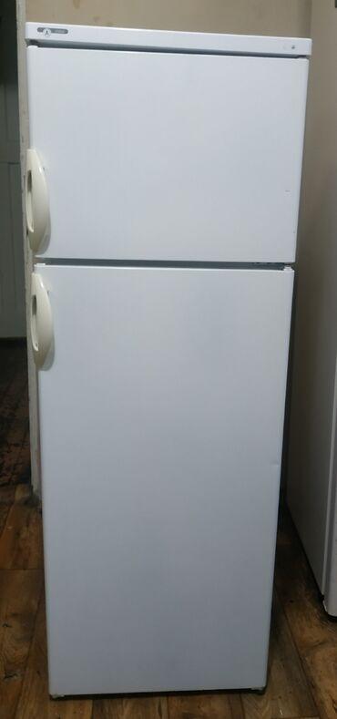Б/у Двухкамерный Белый холодильник Whirlpool