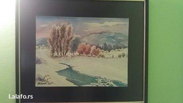 Slika-akvarel dim. 60×40-uz 2 kupljene slike besplatna postarina - Nis