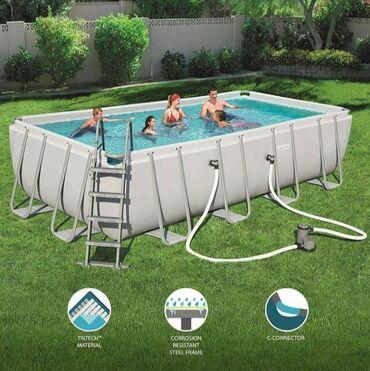 Каркасный бассейн. 5.49m×2.74m×1.22cm