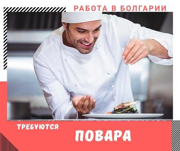 Работа повар в БолгарииОпыт работы 1 год. Зарплата 1 класс -от 510