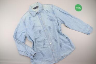 Рубашки и блузы - Цвет: Голубой - Киев: Жіноча джинсова сорочка Lafeipiza, р. 3XL   Довжина: 77 см Ширина плеч