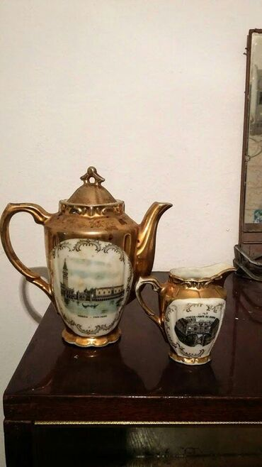 Sport i hobi - Bogatic: Prelep porcelanski set za kafu uspomena iz venecije