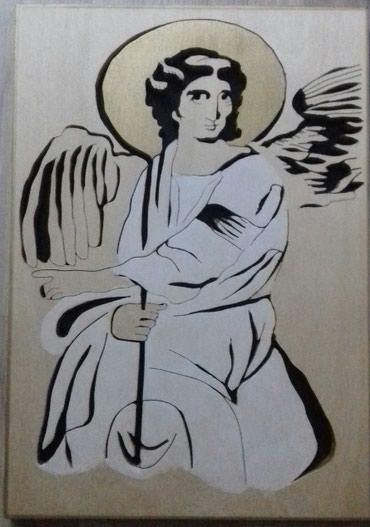 Beli anđeo u drvetu,velicina slike je A4 formata.Snizeno na 1500 - Jagodina
