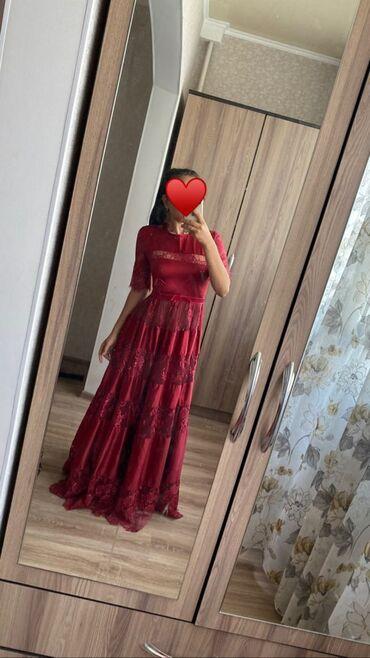 платья вечерние in Кыргызстан | МАТЕРИНСКИЕ ПЛАТЫ: Вечернее платье вечернее шелковое платье!Шелковое платье цвета бардо!