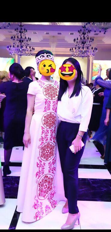 vse mery в Кыргызстан: Продаю очень нежное, шикарное платье с национальным орнаментом