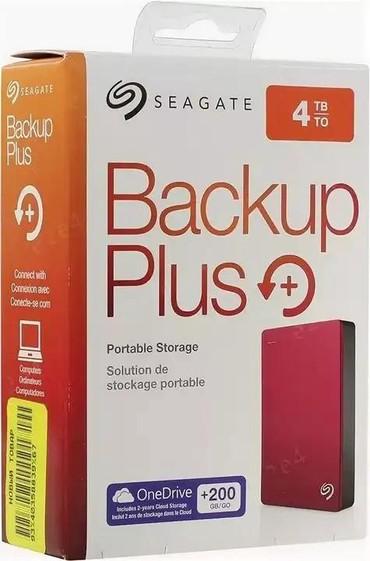 жесткие диски seagate в Кыргызстан: Внешний жёсткий диск Seagate 4TB Backup Plus