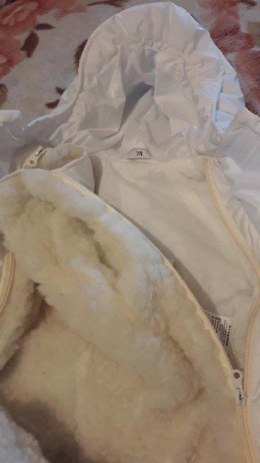 Верхняя одежда в Сокулук: Зимний комбинезон -трансформер со съёмным мехом.Размер 74