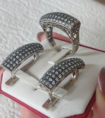 sl 925 кольцо в Кыргызстан: ТОТАЛЬНАЯ РАСПРОДАЖА!!! Серебро. Серебро 925 пробы. Набор! Серьги и