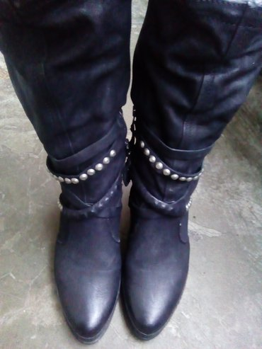 Kožne čizme 40 br,orginal air step ,visina potpetice 9 cm.. - Gornji Milanovac