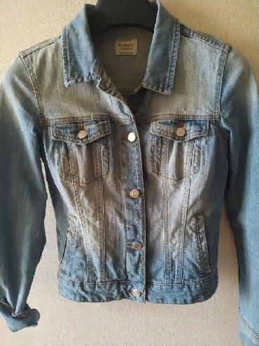 MANGO джинсовая куртка, размер S. Джинса плотная, качественная