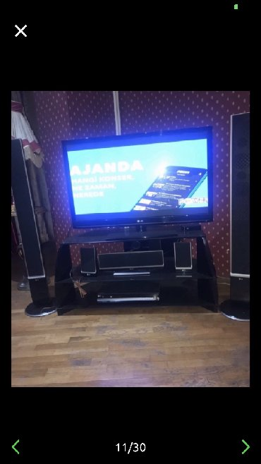 Lg televixoru,130 ekran,iki boyuk kolonkasi var,3 kicik kolonkasi