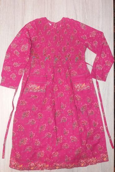 удлиненную кофту в Кыргызстан: Продаю новое платье на девочку 7-8 лет. Ткань х/б, лёгкое, можно