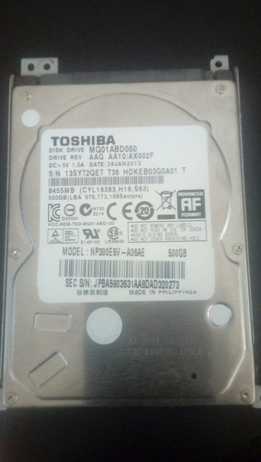 Жесткие диски: seagate 500gb - 1500 сом, 1tb - 2000 сом. Состояние отл в Бишкек