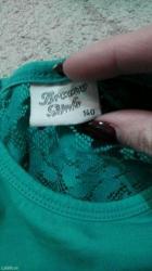 Za decu | Pancevo: Preslatka majca velicina 140,na ledjima cipka