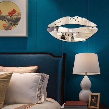 Ostali kućni dekor - Arandjelovac: 390din Akrilni stiker sa efektom ogledala u obliku usana