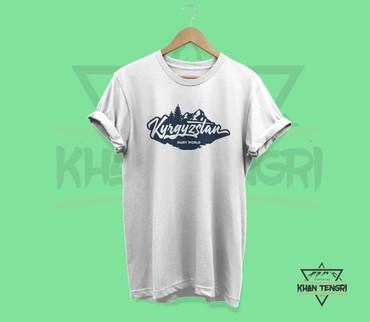 """Футболка с принтом """"Бишкек"""" БишкекДизайнерские футболки с национальным"""