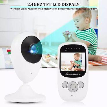 """Видеоняня Baby Monitor 2.4"""" с режимом ночного видения и двусторонней"""
