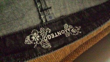 Montego teksas suknja iz italije, nova, 38 veličina, 76cm struk, - Velika Plana