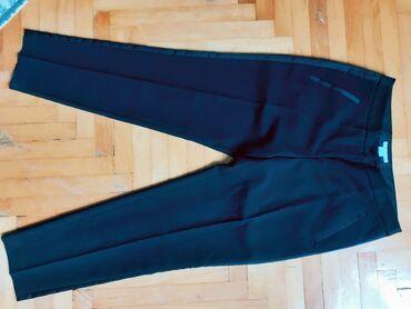 Pantalone - Srbija: Elegantne H&M crne pantalone, velicina 36, NOVE, plus tri rezervna