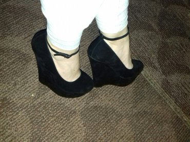 Ženska obuća | Razanj: Preelepeeee nove crne cipele na platformu od 15,5cm. Mogu sa kaisem