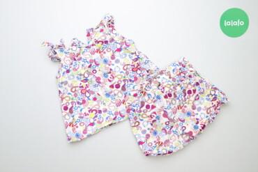 Дитячий комплект шорти та блуза з оригінальним принтом Cos, зріст 98 с