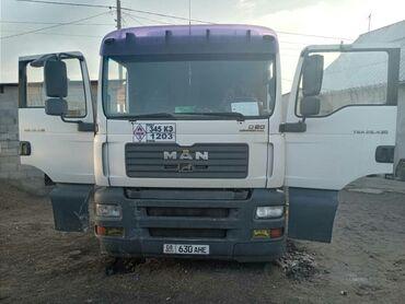 Грузовой и с/х транспорт - Кыргызстан: Продаю Ман 430 тягач 2004г задний ленивец. Бочку алюм 36500л. Комплект