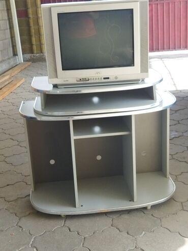 Электроника - Байтик: Телевизор JVC вместе с подставкой продается Телевизор в рабочем
