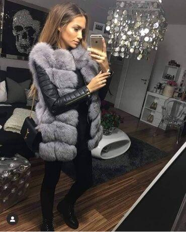 Krzneni prsluci - Srbija: Novooo 🥰 Krzneni prsluci  S.M.L.XL Cena: 4200 din