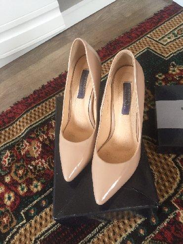 черные-женские-туфли в Кыргызстан: Туфли лодочки, одела 3 раза, размер 37