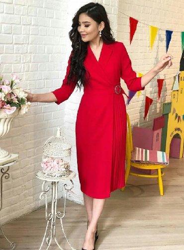 вечернее платье короткие в Кыргызстан: Красное вечернее платье турецкого производства! Новое! Первое фото из