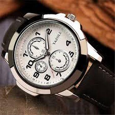 Часы мужские, механические, кожанный ремешок