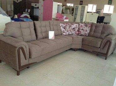 Bakı şəhərində Kunc divan fabrik istehsali,olcu 330x210, acilan bazali,