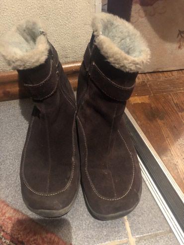 Женские зимние замшевые теплые ботинки на меху. Размер 37,5 в Бишкек