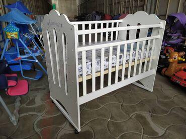Мебель - Кыргызстан: Кроватка для новорожденных колесо качалка