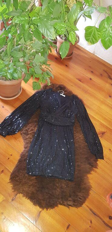 детское леопардовое платье в Азербайджан: 30 Azn Qara biserli ziyafet geyimi Qara biserli don yenidir