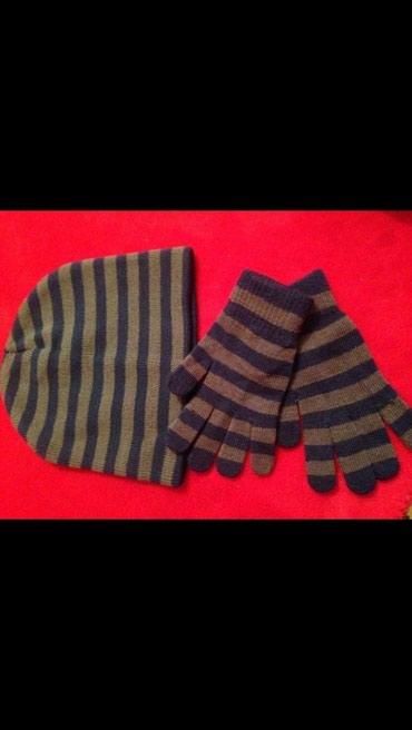Детский набор шапка и перчатки до 3 лет в Бишкек
