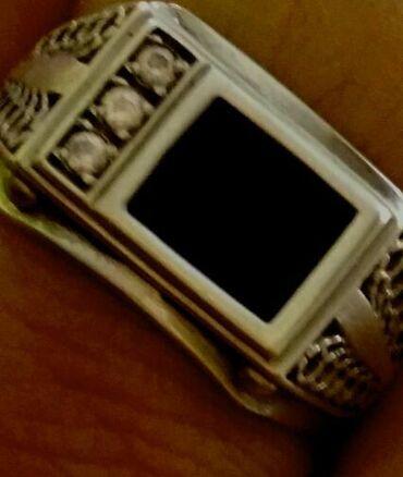 Кольцо росийский чистий кумуш янги каропкада 3000 мужской