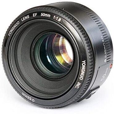 Obyektivlər və filtrləri - Azərbaycan: Yongnou 50mm 1.8 ideal vəzyyətdə qiymət:90 Azn